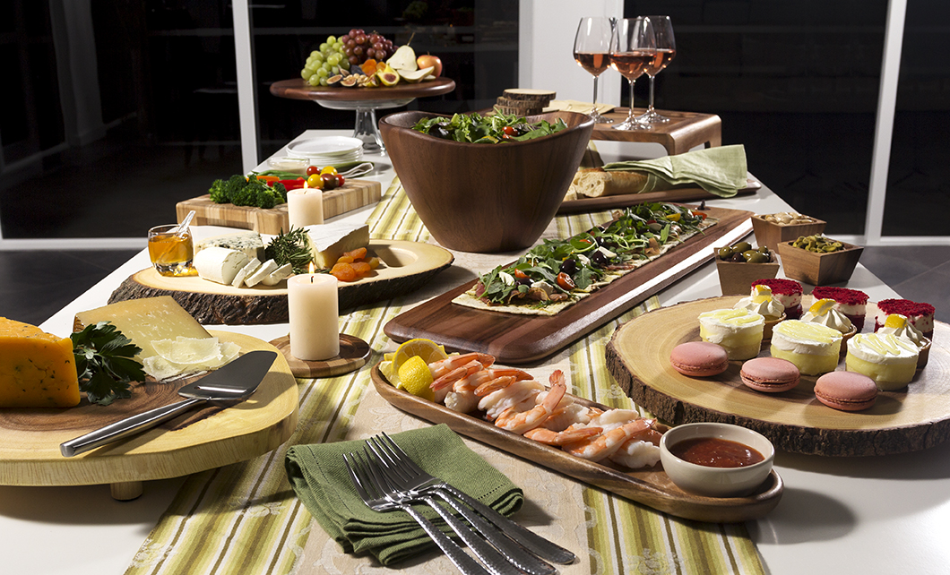 How to create a buffet your guests will love lipper for Table decor international inc