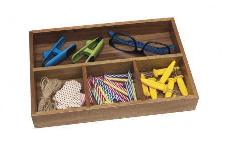 Acacia Organizer Tray, 4-Compartments