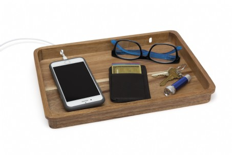 acacia multipurpose valet tray lipper international desk organizers. Black Bedroom Furniture Sets. Home Design Ideas