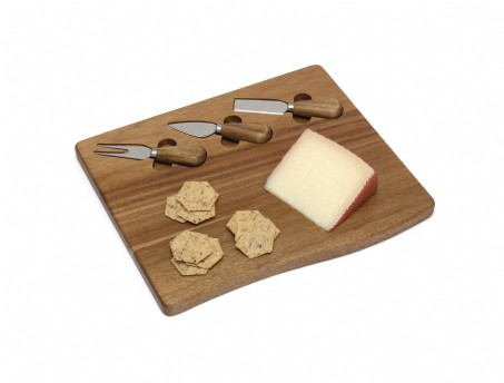 Acacia Serving Board with 3 tools