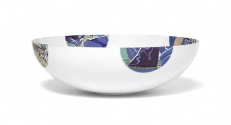 Seascape Enamel & Stainless Steel Large Bowl 12""