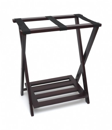 Right Height Folding Luggage Rack With Bottom Shelf