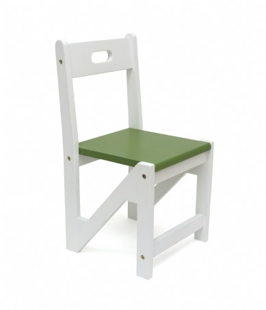 Kids' ZigZag Stacking Chairs, Set of 2, Green