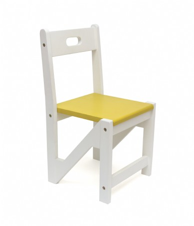 Kids' ZigZag Stacking Chairs, Set of 2, Yellow