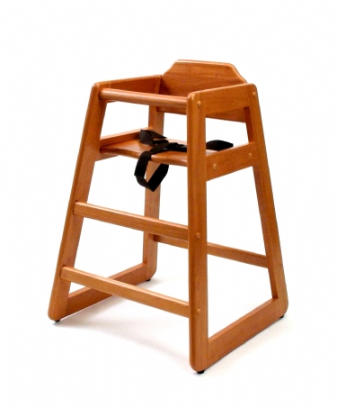 Child's High Chair, Pecan Finish