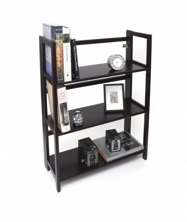 3 Shelf Folding Bookcase Espresso Finish