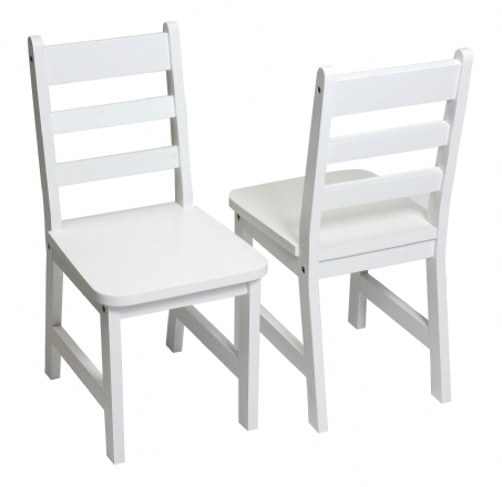 Child\'s Chairs, Set of 2, White | Lipper International Chairs