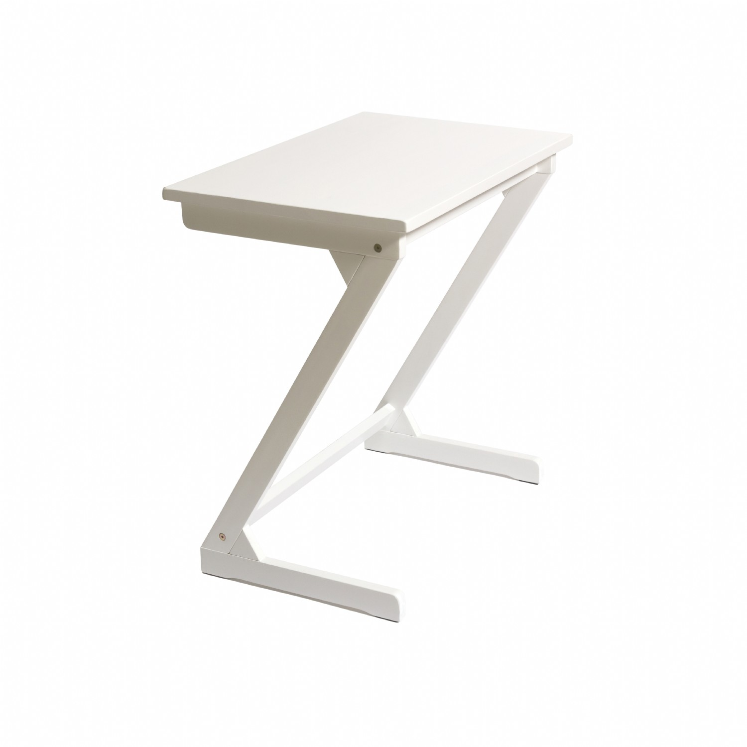 Wood ZigZag Table, White
