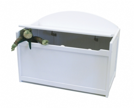 Child's Toy Chest, White