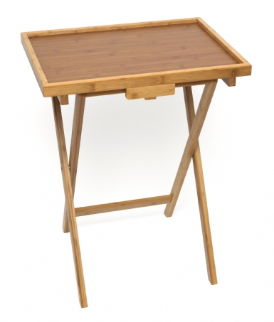 Bamboo Lipped Snack Tables