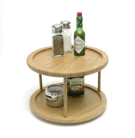 Bamboo Turntable, 2-Tier