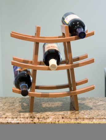Bamboo 9-Bottle Wine Rack