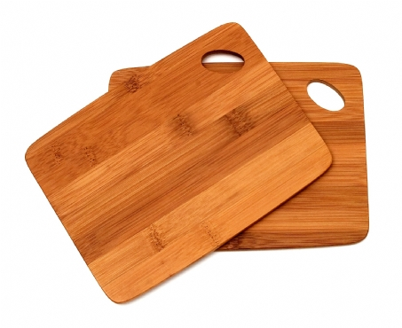 Bamboo Cutting Boards with Oval Hole in Corner, Set of 2
