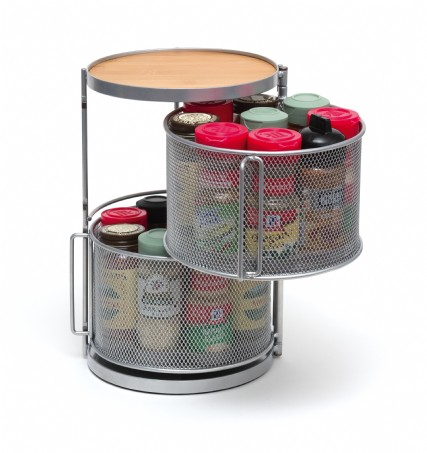 Two Tier Round Spice Tower