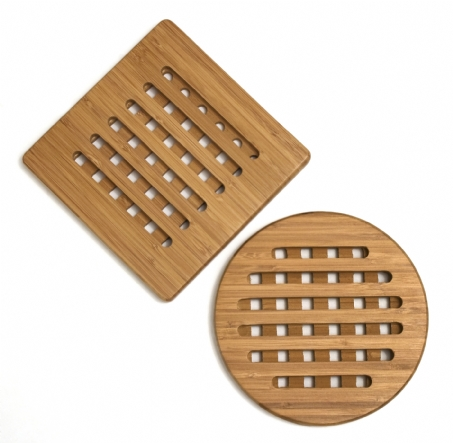 Bamboo Trivets, Set of 2