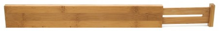 Bamboo Custom Fit Drawer Dividers, Set of 2