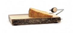 Acacia Tree Bark Slab Cheese Slicer