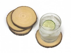 Acacia Tree Bark Coasters, Set of 4