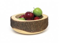 Acacia Slab Tree Bark Bowl