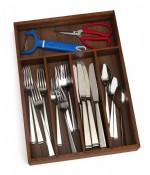 Acacia Flatware Organizer, 5 compartments