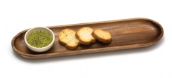Acacia Bread Board with Ceramic Bowl