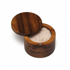 Acacia Spice Box with Swivel Cover