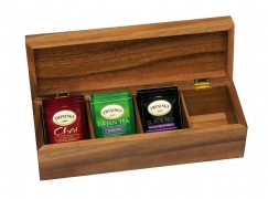 Acacia Tea Box, 4-Section