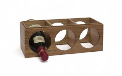 Acacia Stacking Wine Rack, 3 Bottle