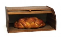 Acacia Rolltop Bread Box