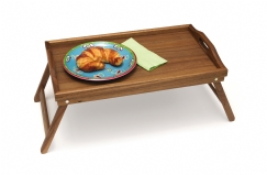 Acacia Bed Tray with Folding Legs