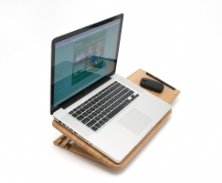 Bamboo Expandable Laptop Stand, Slatted