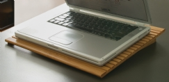 Bamboo Slatted Laptop Stand