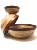 Rubberwood Two-tone Bowls