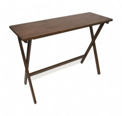 Folding Buffet Table, Walnut Finish