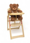 Child's Folding High Chair, Natural Finish