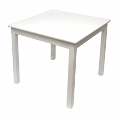 Child's White Table