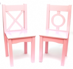 Child's Chairs, Set of 2, Light Pink