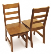 Child's Chairs, Set of 2, Pecan Finish