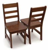 Child's Chairs, Set of 2, Walnut Finish