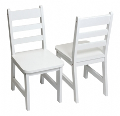 Child's Chairs, Set of 2, White