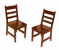 Child's Chairs, Set of 2, Cherry Finish