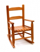 Child's Rocking Chair, Pecan Finish