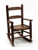 Child S Slanted Top Desk Amp Chair Walnut Finish Lipper