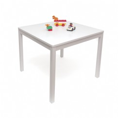 Child's Square Table, White