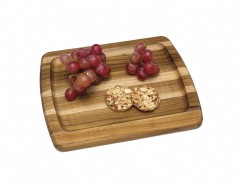 Teak Edge Grain Serving Platter