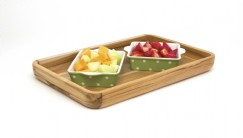 Teak Serving Tray with Rounded Sides