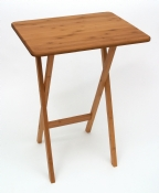 Bamboo Rectangular Snack Tables