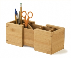 Bamboo Expandable Pencil Holder