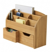 Bamboo Space-Saving Desk Organizer