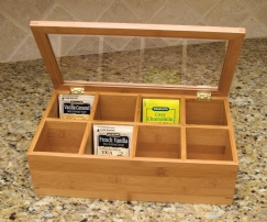 Bamboo & Acrylic Tea Box